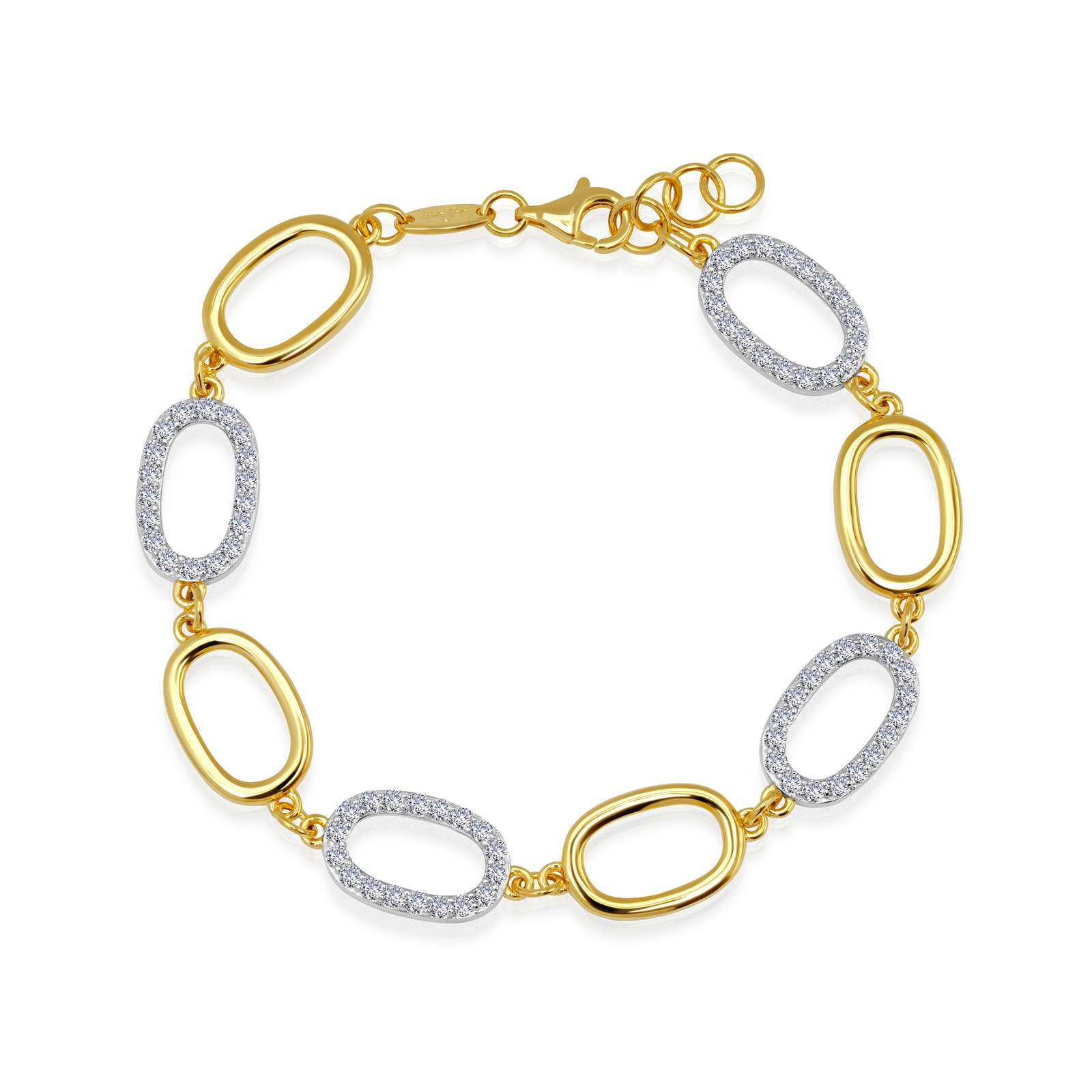 Classic Simulated Diamond Mixed-color Bracelet by Lafonn Jewelry