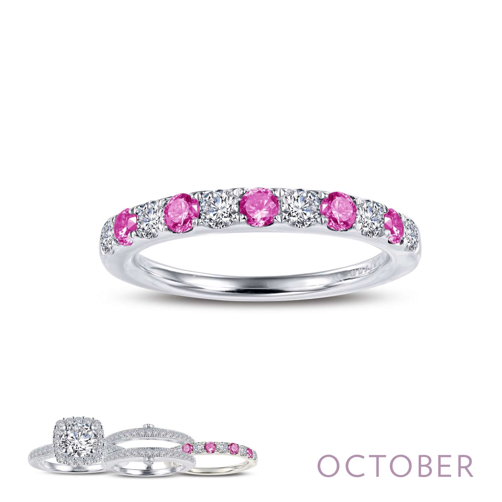 Birthstone OCTOBER Platinum Ring by Lafonn Jewelry