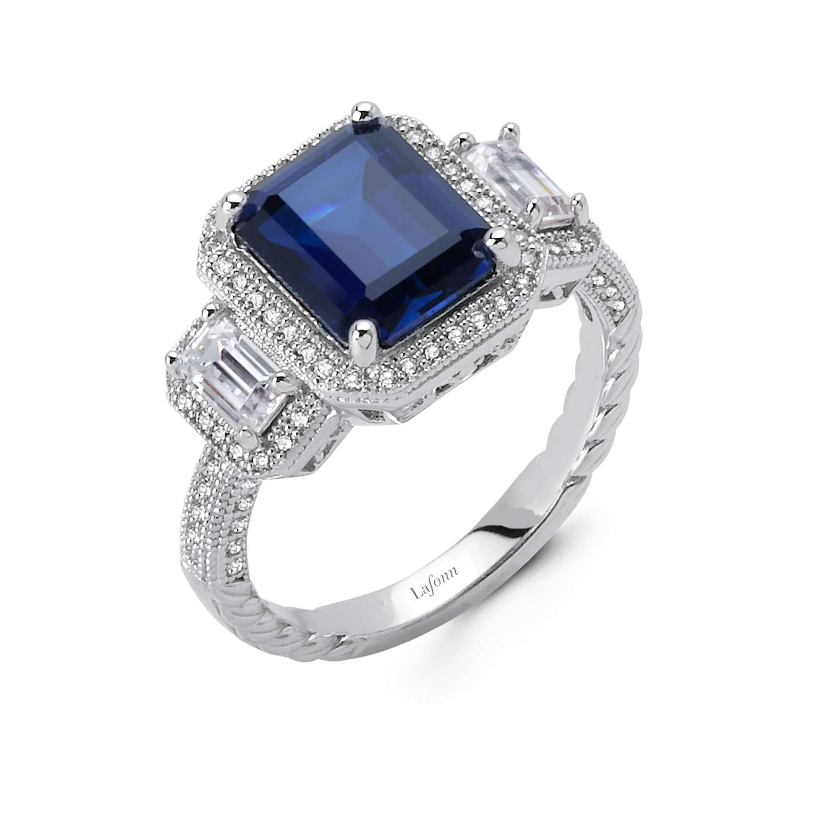 Classic Sapphire Platinum Bonded Ring Lake Oswego Jewelers Lake Oswego, OR