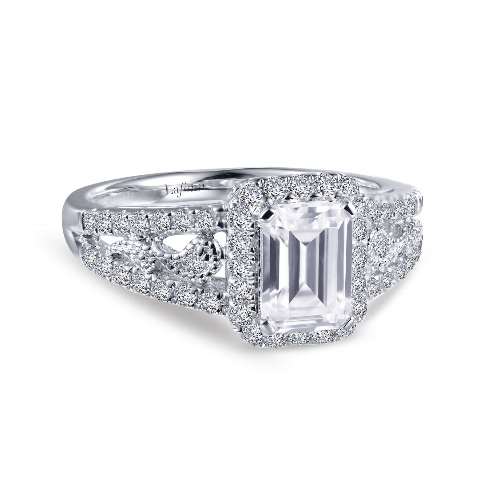 Heritage Simulated Diamond Platinum Bonded Ring by Lafonn Jewelry