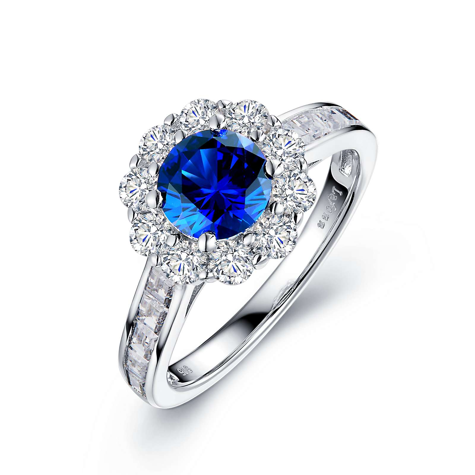 Classic Sapphire Platinum Ring by Lafonn Jewelry