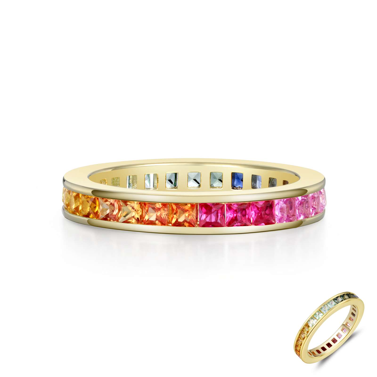 Classic Multi Color Gold Ring by Lafonn