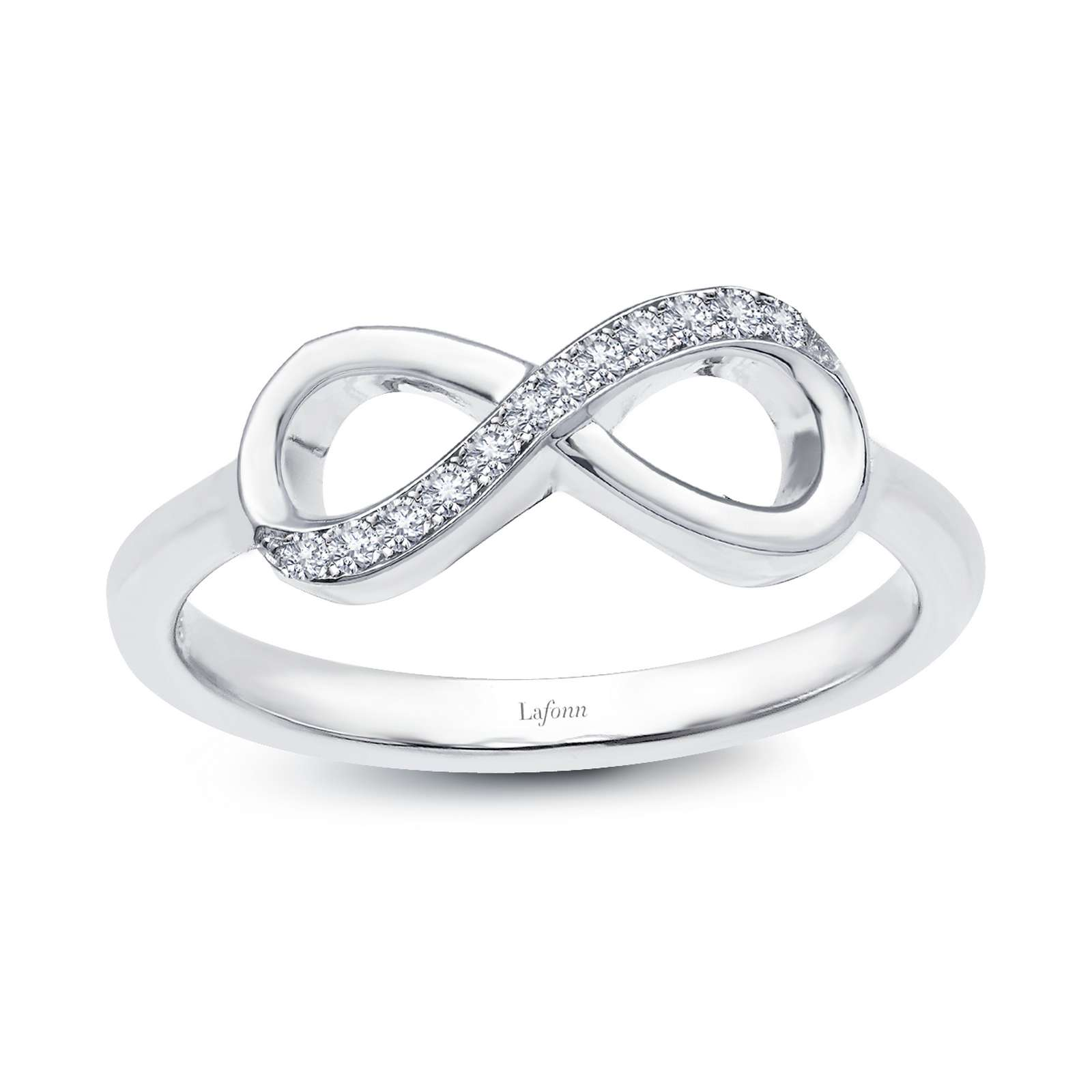 Classic Simulated Diamond Platinum Bonded Ring by Lafonn