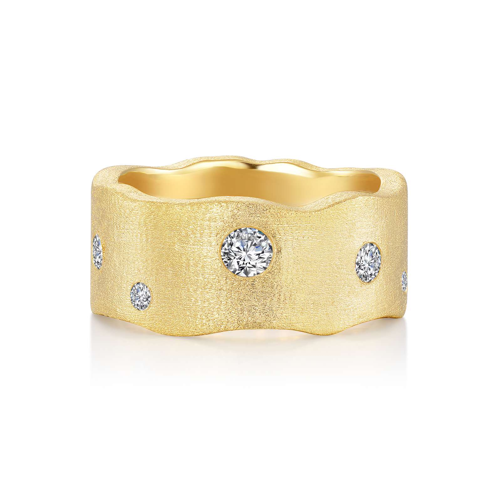 Lafonn Gold Club Simulated Diamond Gold Bonded Ring by Lafonn Jewelry