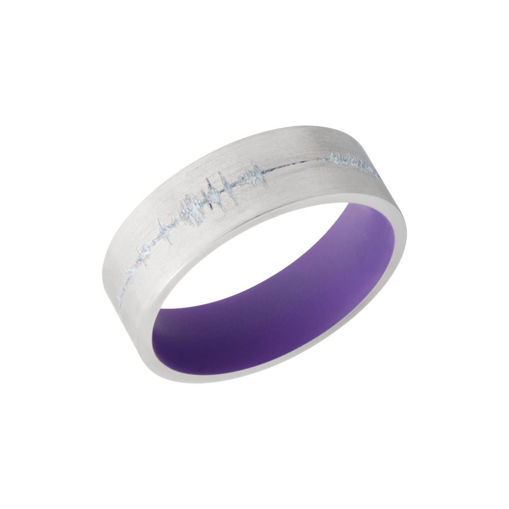 Cobalt chrome & Cerakote Wedding Band by Lashbrook Designs