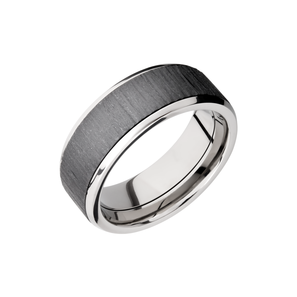 It is just an image of Titanium & Zirconium Wedding Band