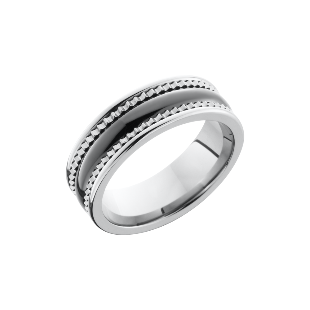 Ceramic And Tungsten Band  by Lashbrook Designs