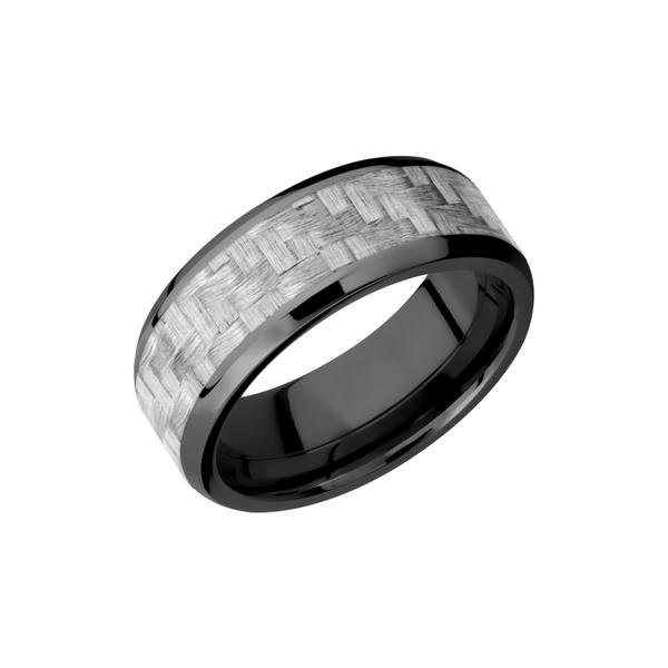 It is just an image of Carbon Fiber & Zirconium Wedding Band