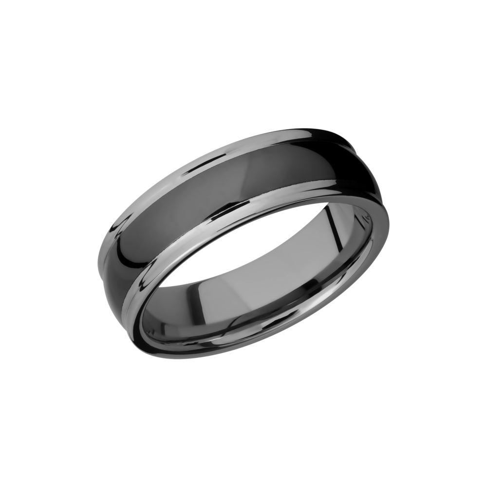Tungsten And Ceramic 7mm Band by Lashbrook Designs