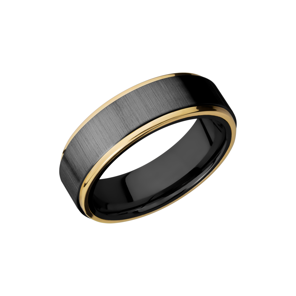 Zirconium & Precious Metal Wedding Band by Lashbrook Designs