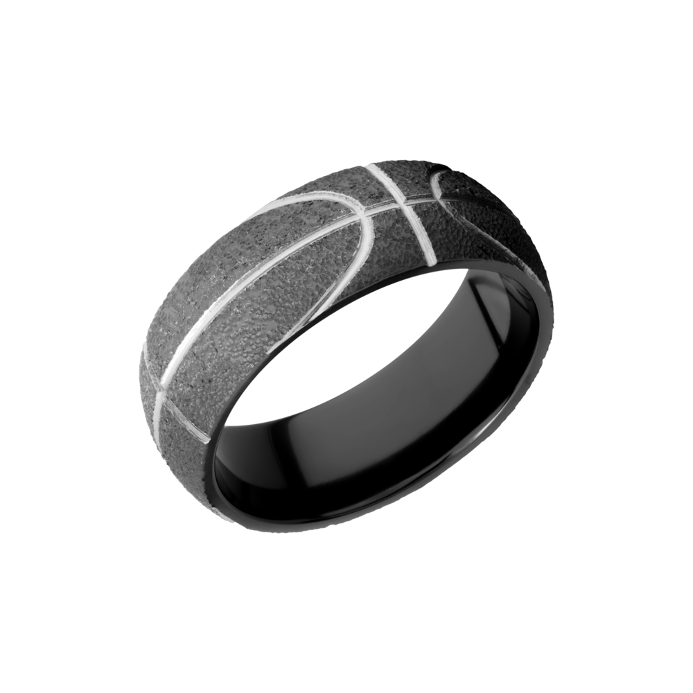Zirconium Wedding Band by Lashbrook Designs