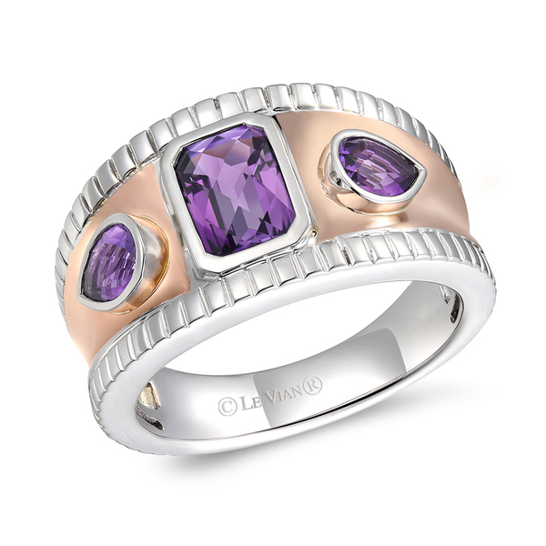 14K Two Tone Ring by Le Vian