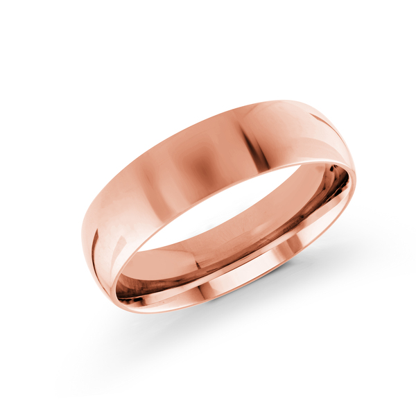 18K Rose Gold Men's Wedding Band Ross Elliott Jewelers Terre Haute, IN