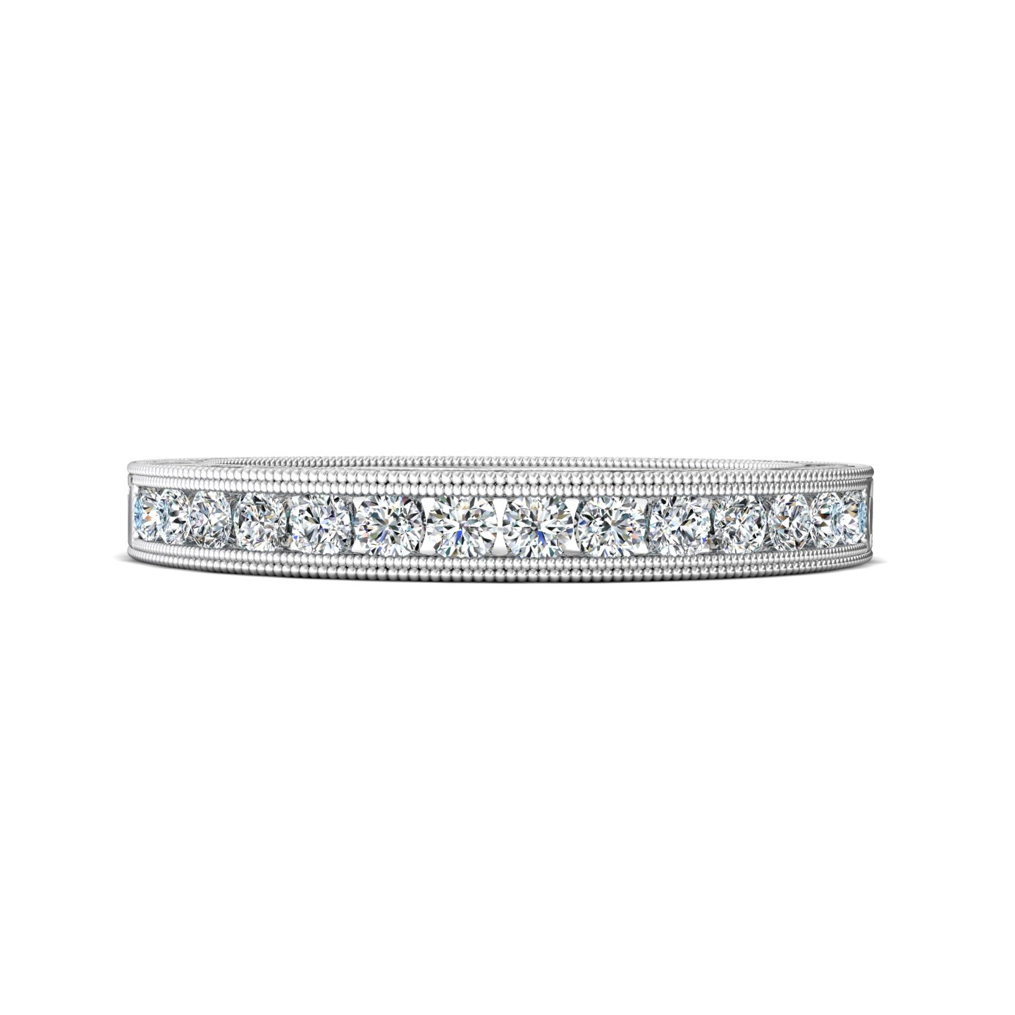 14K White Gold FlyerFit Vintage Wedding Band Grogan Jewelers Florence, AL