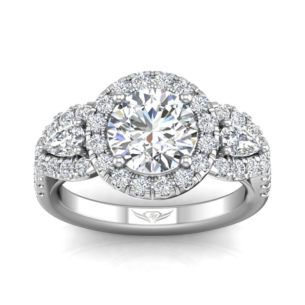 14K White Gold FlyerFit Encore Engagement Ring Image 3 Grogan Jewelers Florence, AL