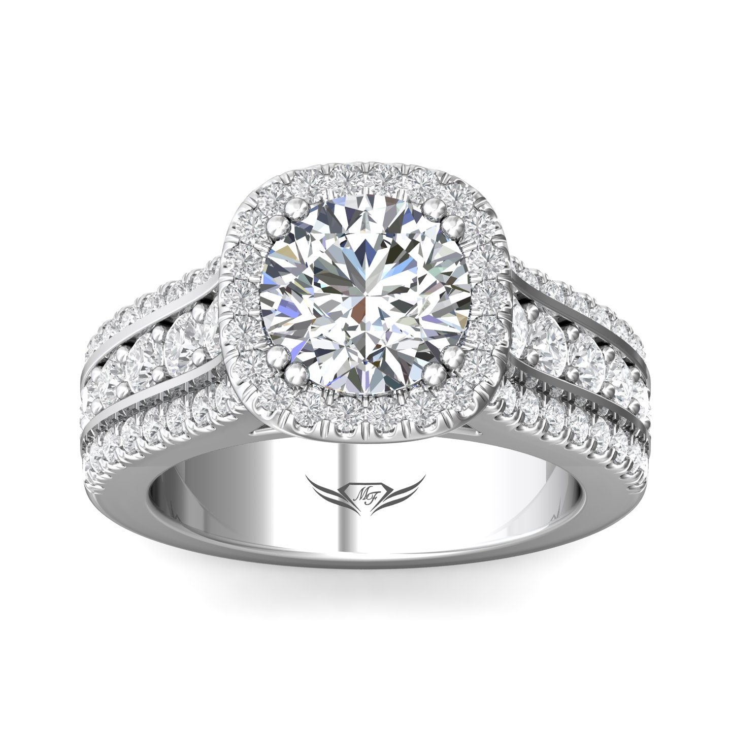 Rings - 14K White Gold FlyerFit Encore Engagement Ring - image #3