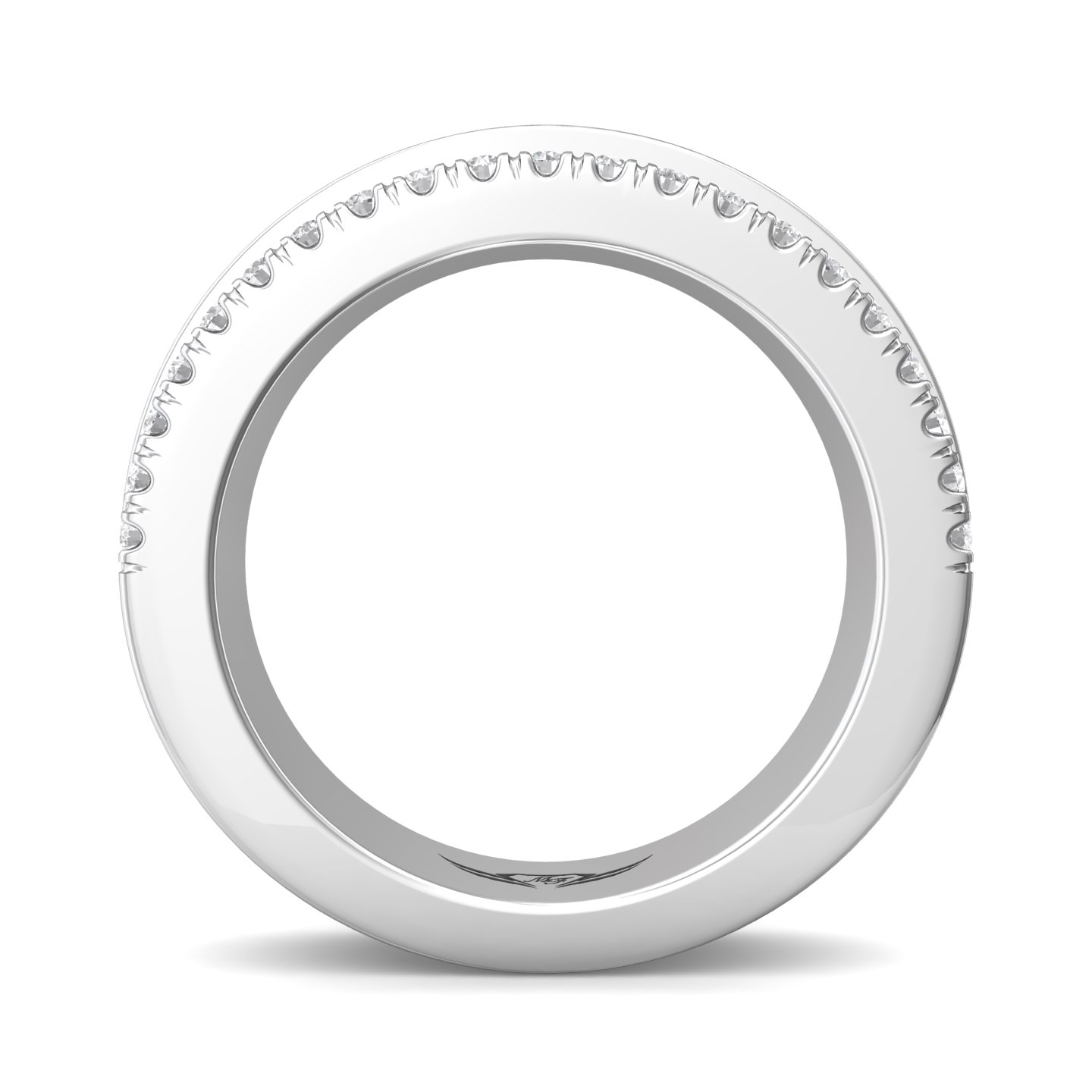 Rings - 14K White Gold FlyerFit Channel Wedding Band - image #2