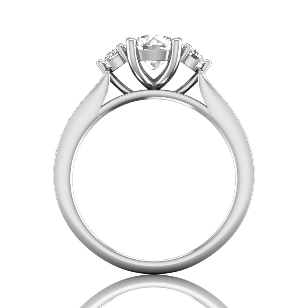 Rings - 14K White Gold FlyerFit Channel/Shared Prong Engagement Ring - image #2