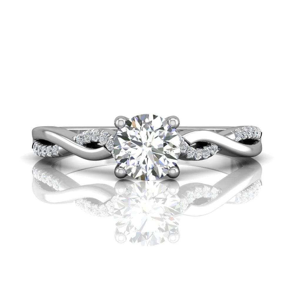 Rings - 14K White Gold FlyerFit Split Shank Engagement Ring