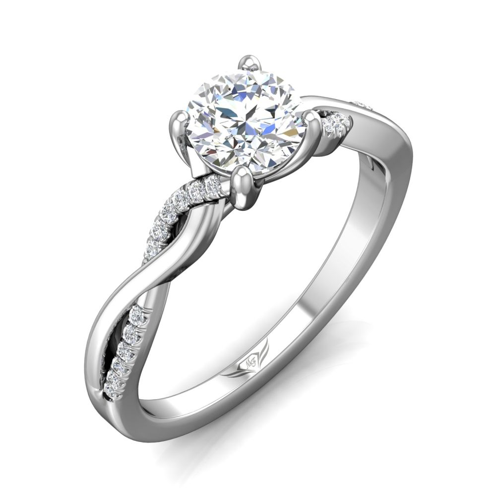 Rings - 14K White Gold FlyerFit Split Shank Engagement Ring - image #5
