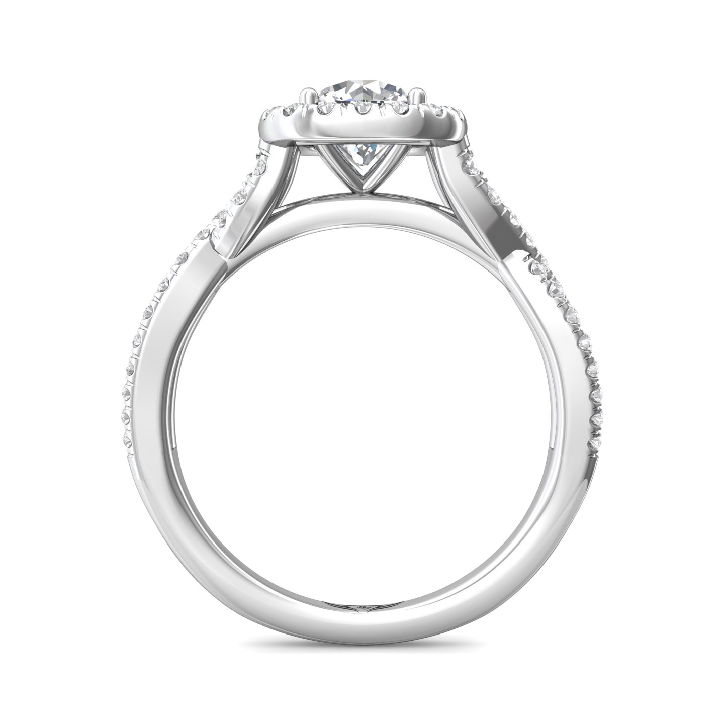Rings - 14K White Gold FlyerFit Split Shank Engagement Ring - image #2