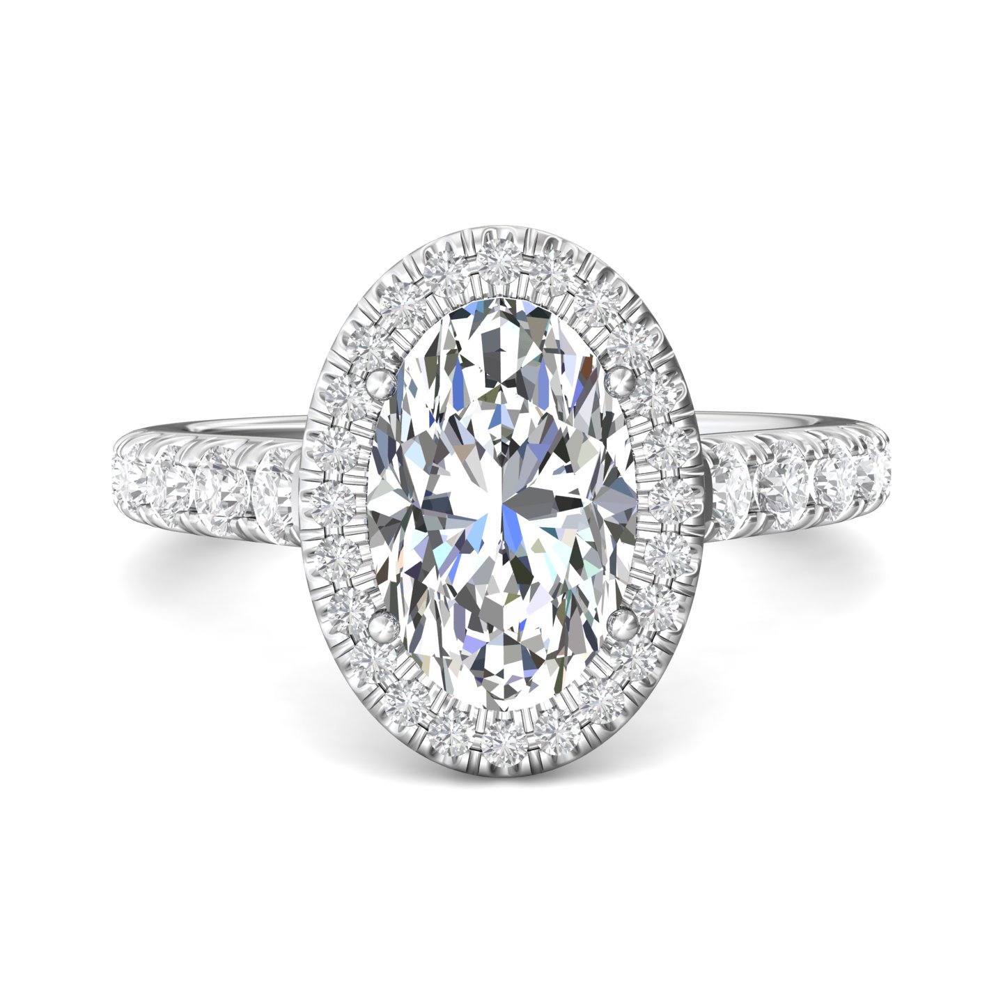 Rings - 14K White Gold FlyerFit Encore Engagement Ring