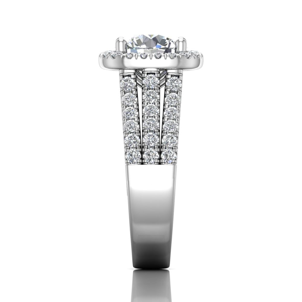Rings - 14K White Gold FlyerFit Encore Engagement Ring - image #4
