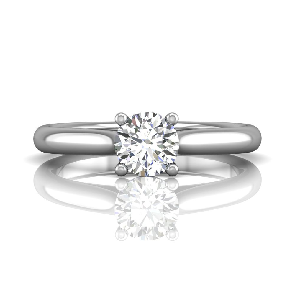 Rings - 14K White Gold FlyerFit Solitaire Engagement Ring