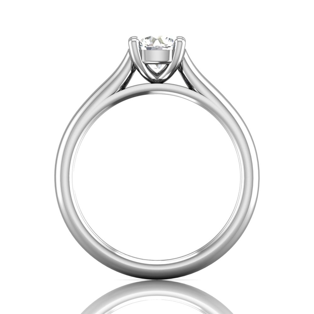 Rings - 14K White Gold FlyerFit Solitaire Engagement Ring - image #2