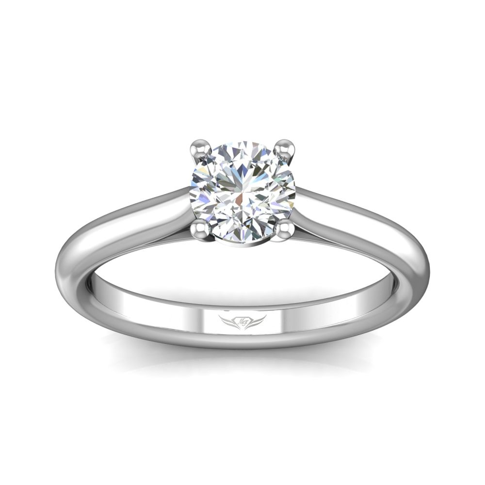 Rings - 14K White Gold FlyerFit Solitaire Engagement Ring - image #3