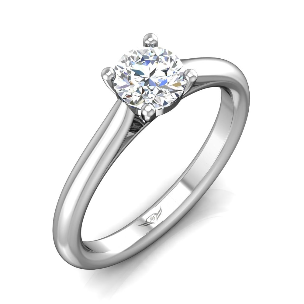 Rings - 14K White Gold FlyerFit Solitaire Engagement Ring - image #5