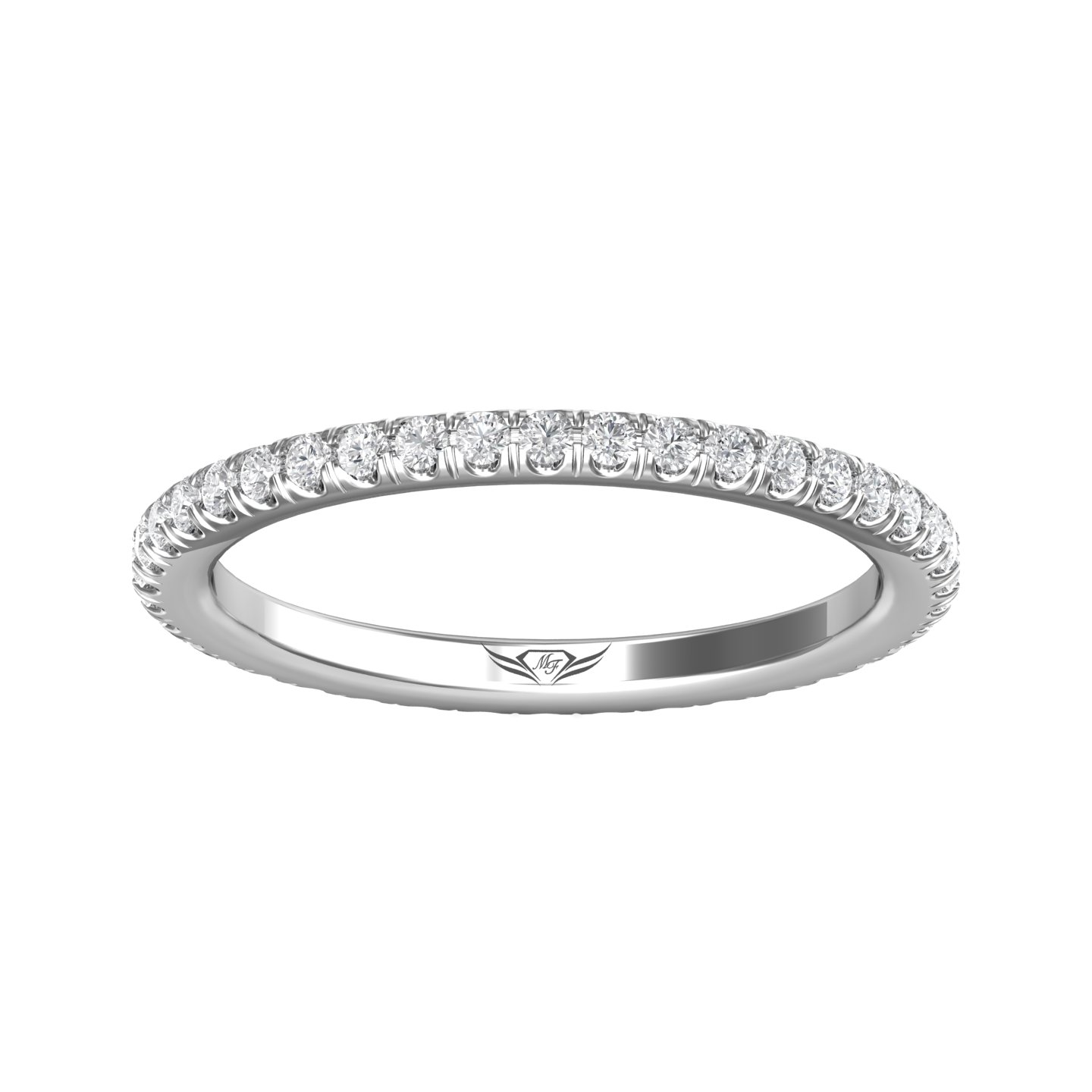 Rings - 14K White Gold FlyerFit Eternity Wedding Band - image #3