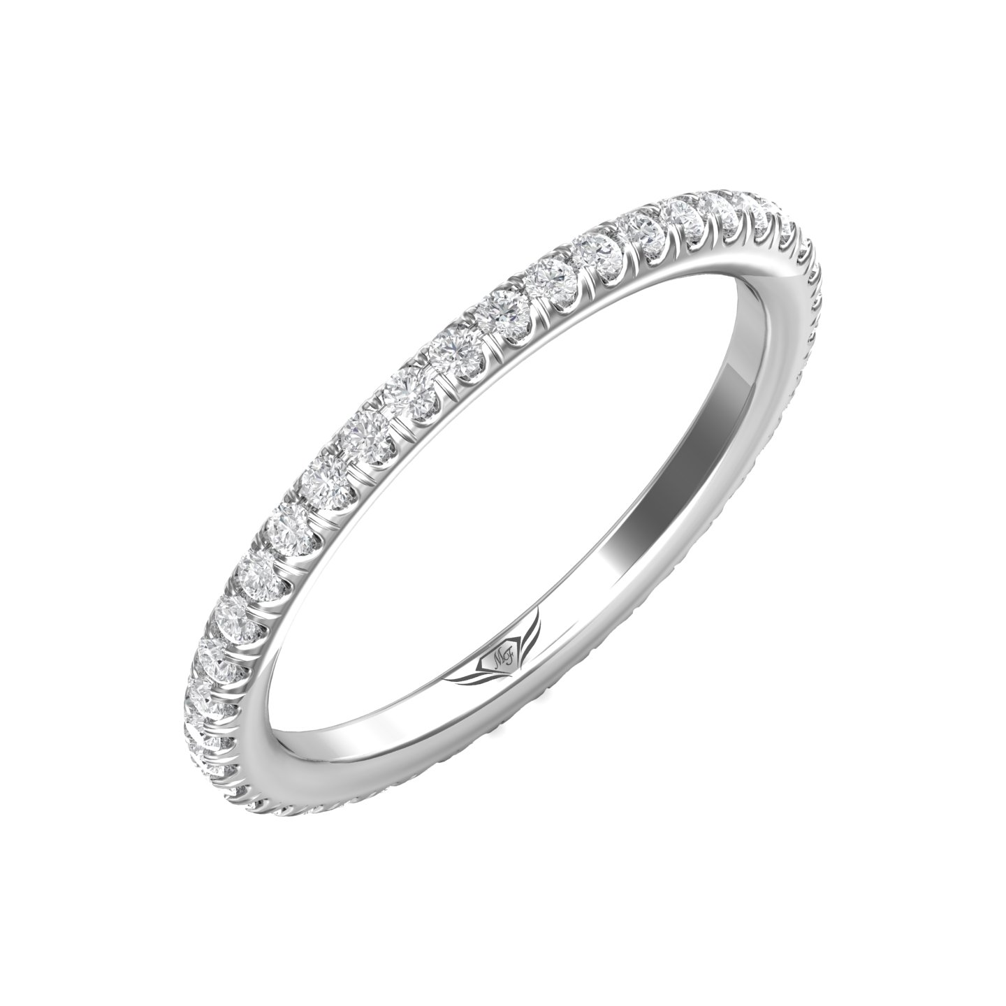 Rings - 14K White Gold FlyerFit Eternity Wedding Band - image #5