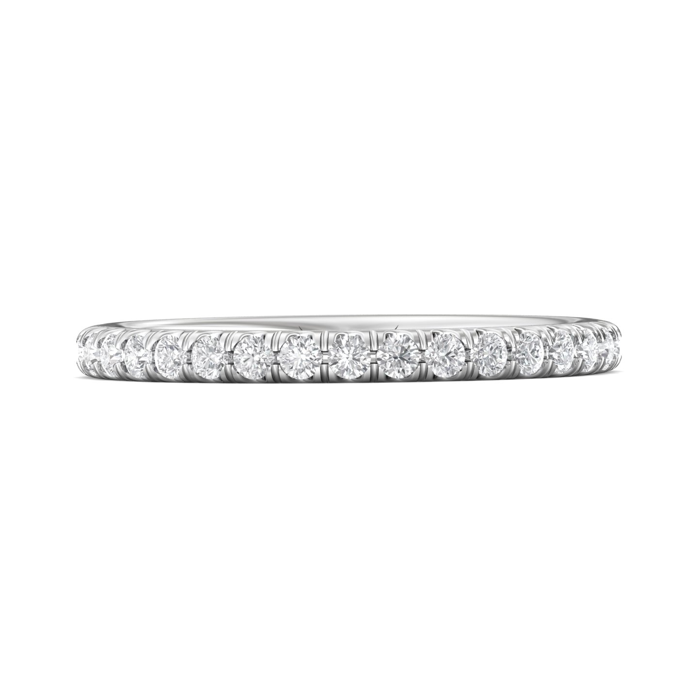 Rings - 14K White Gold FlyerFit Eternity Wedding Band