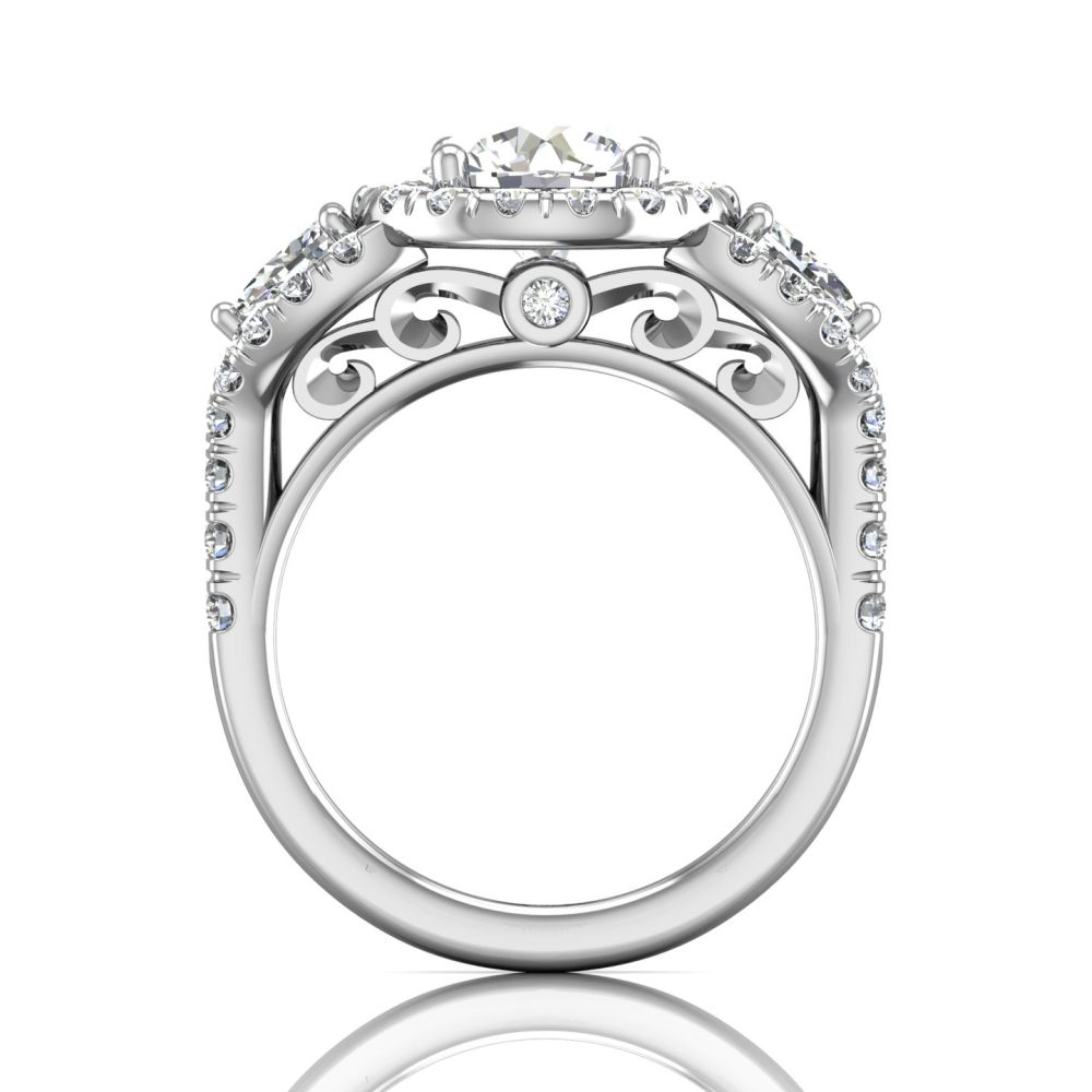 Rings - 14K White Gold FlyerFit Encore Engagement Ring - image #2