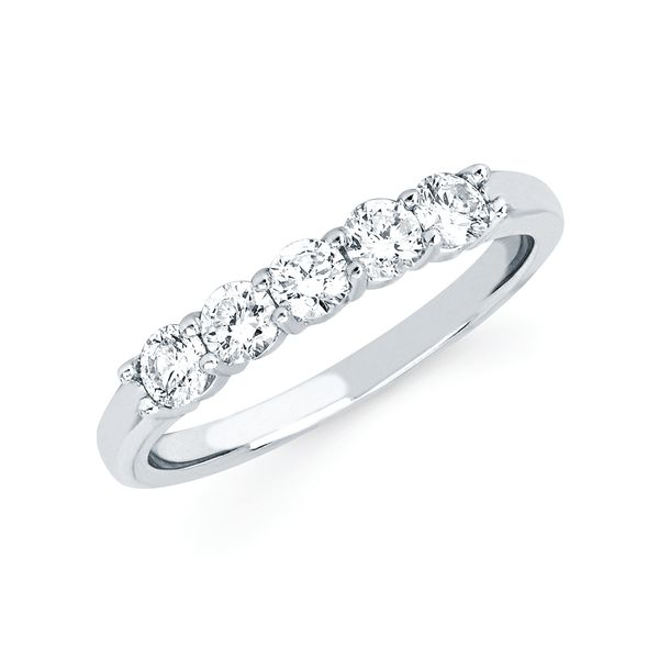 14k White Gold Anniversary Band Midtown Diamonds Reno, NV