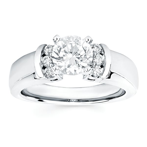 14k White Gold Engagement Set Image 2  ,