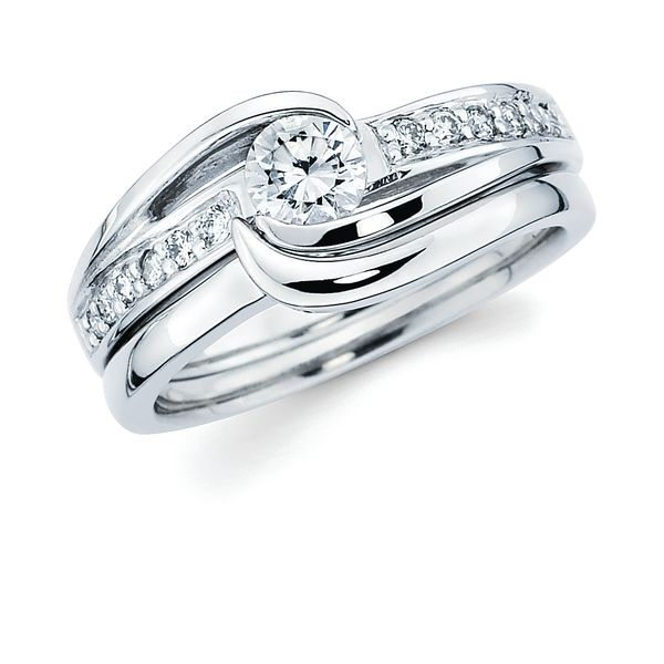 14k White Gold Engagement Set Enchanted Jewelry Plainfield, CT