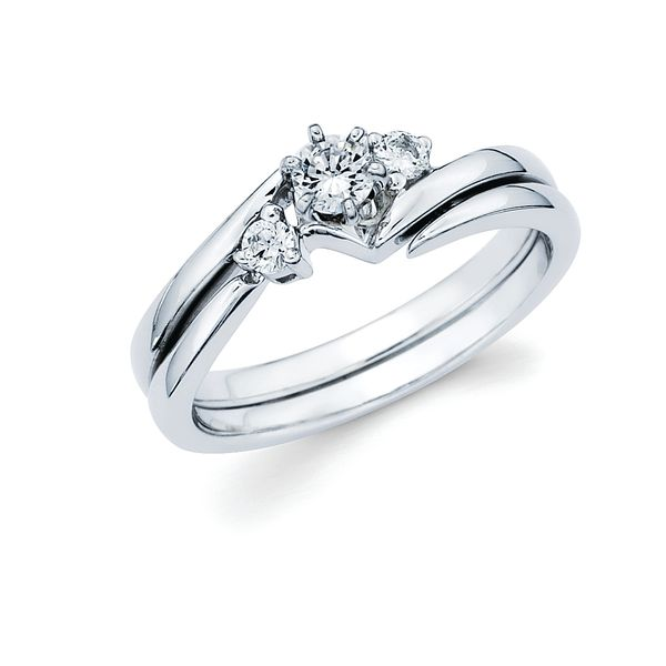 14k White Gold Engagement Set Brynn Elizabeth Jewelers Ocean Isle Beach, NC
