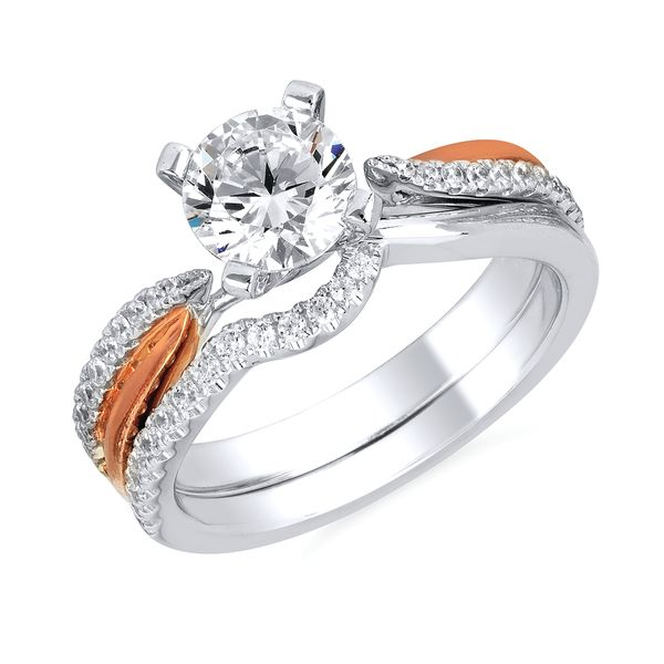 14k White And Rose Gold Engagement Set Arnold's Jewelry and Gifts Logansport, IN