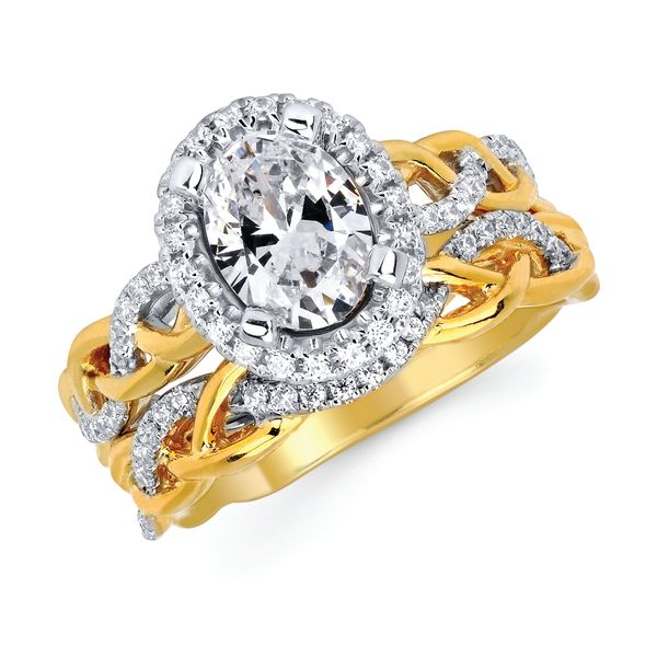 14k White And Yellow Gold Engagement Set Arnold's Jewelry and Gifts Logansport, IN