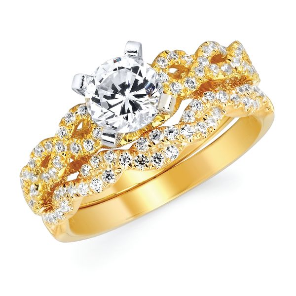 14k Yellow Gold Engagement Set Arnold's Jewelry and Gifts Logansport, IN