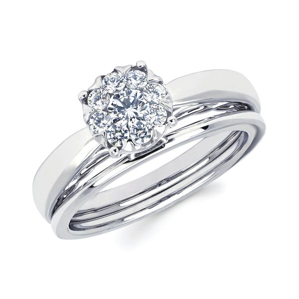 14k White Gold Engagement Set Jones Jeweler Celina, OH