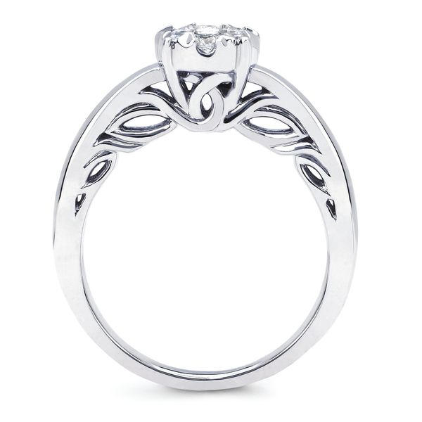 14k White Gold Engagement Set Image 2 Jones Jeweler Celina, OH