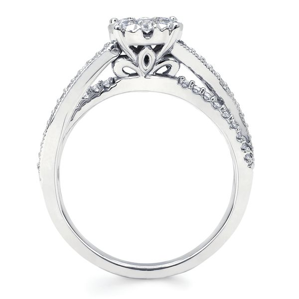14k White Gold Engagement Set Image 2 Arthur's Jewelry Bedford, VA
