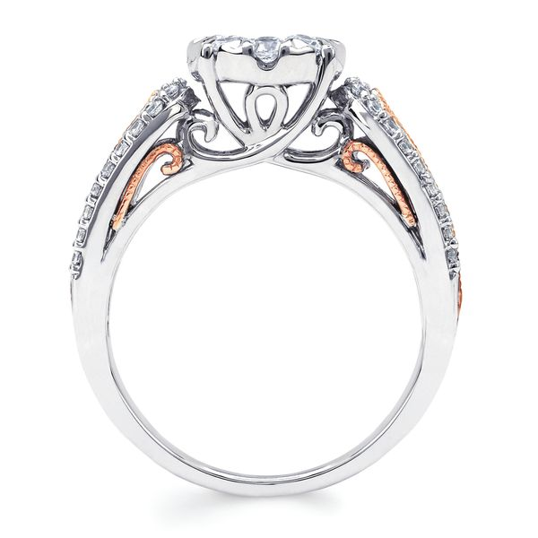 14k White And Rose Gold Engagement Set Image 2 Baker's Fine Jewelry Bryant, AR