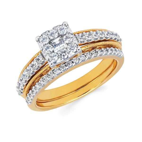 14k Yellow Gold Engagement Set Enchanted Jewelry Plainfield, CT