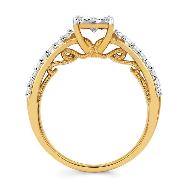 Bridal Sets - 14k Yellow Gold Engagement Set - image #2