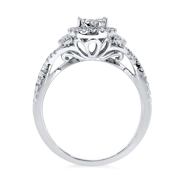 14k White Gold Engagement Set Image 2 Enchanted Jewelry Plainfield, CT