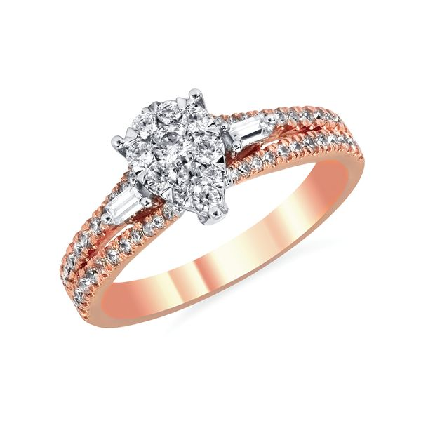 14k Rose Gold Engagement Set Barnes Jewelers Goldsboro, NC